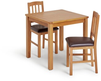 Argos Home Ashwell Oak Veneer Dining Table & 2 Chairs