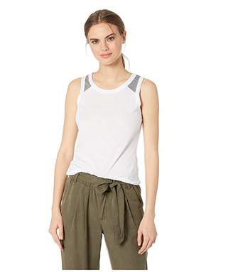 Chaser Blocked Jersey Shirttail Muscle Tank