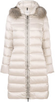 Moncler Tinuveil padded coat - women - Feather Down/Fox Fur/Polyamide/Polyester - 0
