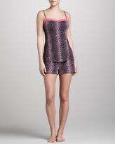 Cosabella Anouck Leopard-Print Boxer Shorts, Pink