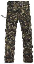 BATUOS Men's Big-Tall Classic Cotton Cargo Long Camo Pants