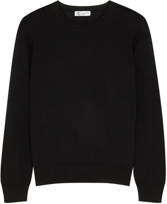 Johnstons of Elgin Maria black wool jumper