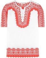 Tory Burch Isla embroidered cotton tunic