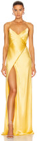Mason by Michelle Mason for FWRD Strappy Wrap Gown in Butter | FWRD