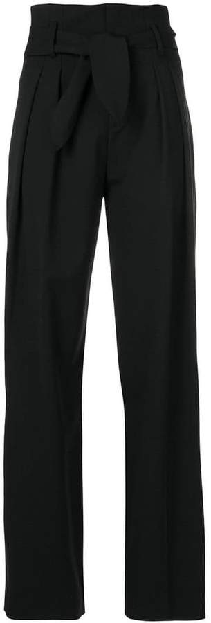 IRO belted wide-leg trousers