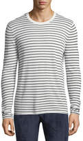 ATM Anthony Thomas Melillo Striped Cashmere-Blend Sweater