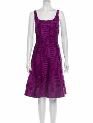 Oscar de la Renta 2010 Knee-Length Dress Purple