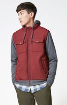 RVCA Puffer Wayward Maroon Zip Jacket