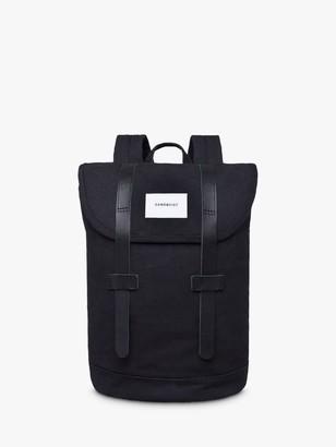 SANDQVIST Stig Organic Cotton Backpack, Black