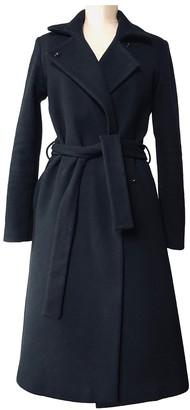 Annie P. Black Wool Coat for Women