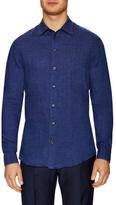 Armani Collezioni Solid Spread Collar Sportshirt