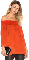 Theory Elistaire Off the Shoulder Blouse in Red