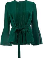 Oscar de la Renta pleated front blouse - women - Silk - 6