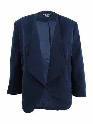 Nine West Women's Plus Size V Neck Crepe Cardigan Jacket
