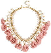 INC International Concepts M. Haskell for Gold-Tone Imitation Pearl and Flower Statement Necklace, Only at Macy's