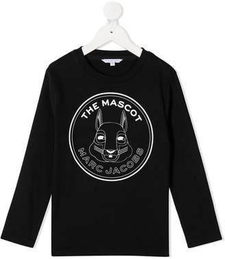 The Marc Jacobs Kids Logo Patch Long-Sleeve Top