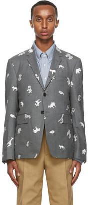Thom Browne Grey Wool Blazer