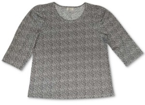 Style&Co. Style & Co Printed Cotton Puff-Sleeve Top, Created for Macy's