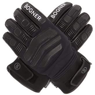 Bogner Agimo Faux Shearling-lined Leather Ski Gloves - Mens - Black
