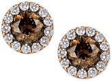 LeVian Le Vian® Chocolatier Diamond Halo Stud Earrings (1-5/8 ct. t.w.) in 14k Rose Gold