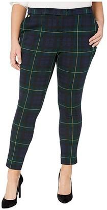 Lauren Ralph Lauren Plus Size Plaid Jacquard Pants (Black Multi) Women's Casual Pants