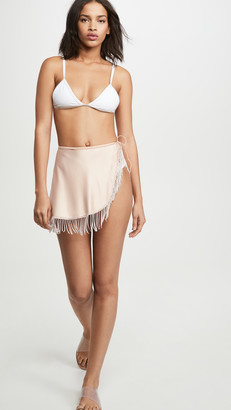 Oseree Strass Cover Up Skirt