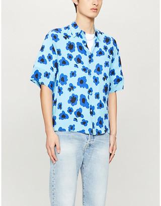 Sandro Poppies floral-print woven shirt