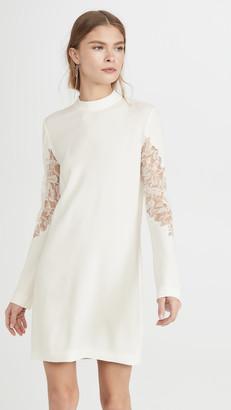 Dion Lee Lace Applique Mini Long Sleeve Dress