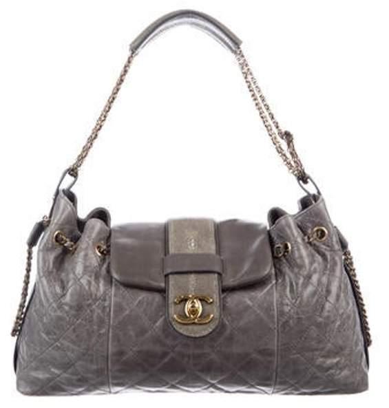 Chanel Bindi Stingray Flap Bag Grey Bindi Stingray Flap Bag