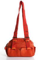 Barneys New York Orange Nylon Strappy Small Shoulder Bag