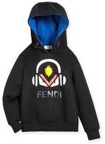 Fendi Boy's Monster w/ Headphones Hooded Sweatshirt, Size 10-14