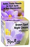 Reviva Labs Brown Spot Night Cream, with Kojic Acid, 1-Ounce (28 g) by