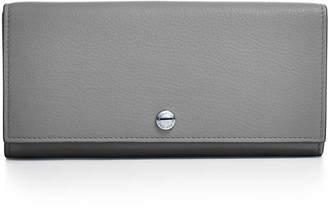 Tiffany & Co. Continental flap wallet in black grain calfskin leather