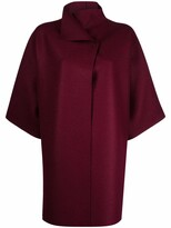 Thumbnail for your product : Harris Wharf London Funnel-Neck Crop-Sleeve Coat
