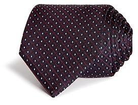 HUGO BOSS Dotted Diamond Grid Silk Skinny Tie