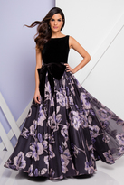 Terani Couture 1722E4239 Bateau Huge Bow A-Line Dress