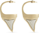 Givenchy Shark tooth hoop earrings