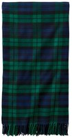Pendleton 5Th Avenue Plaid Merino Wool Throw