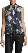 Haute Hippie You Only Live Twice Sleeveless Silk Blouse, Solitaire
