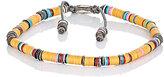 M. Cohen Men's Rondelle Bracelet-ORANGE