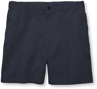 """L.L. Bean Men's Double LA Chino Shorts, Hidden Comfort Waist Plain Front 6"""" Inseam"""