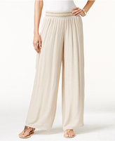 Thalia Sodi Wide-Leg Crepe Pants, Created for Macy's