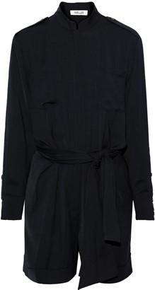 Diane von Furstenberg Belted Brushed-twill Mini Dress