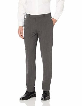 Van Heusen Men's Flex Straight Fit Flat Front Pant
