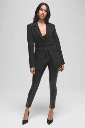 Good American Better Than Leather Boss Pant Skinny | Black001