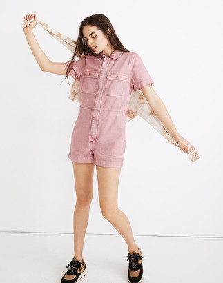Madewell Petite Garment-Dyed Coverall Romper