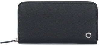 Bulgari Logo Motif Zipped Wallet