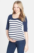 Tees by Tina Women's 'St. Barts' Ballet Sleeve Maternity Top
