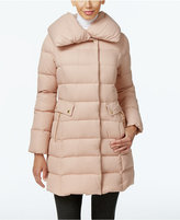 Cole Haan Pillow-Collar Asymmetrical Down Coat