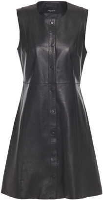 Muu Baa Muubaa Flared Leather Mini Dress